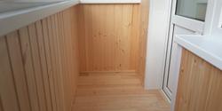 Обшивка балкона вагонкой: цены на отделку лоджии деревянной .